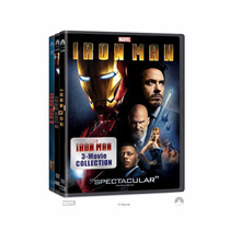 Iron Man , Colección 3 Peliculas , Importadas En Dvd