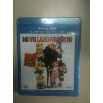 Mi Villano Favorito En 3d ( Bluray 3d + Bluray + Dvd )