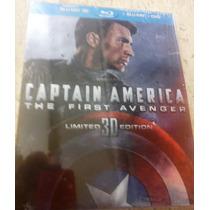 Capitan America El Primer Vengador Bluray 3d + Bluray + Dvd