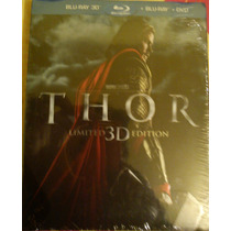 Thor ( Bluray 3d + Bluray + Dvd) Nueva Cerrada Lbf