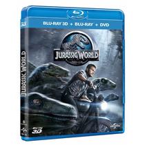 Jurassic World Mundo Jurasico Blu-ray 3d + Blu-ray + Dvd Msi