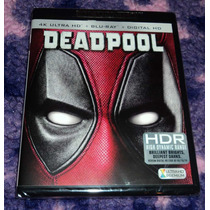 Deadpool - Bluray Ultra Hd 4k + Bluray Importado Usa Marvel