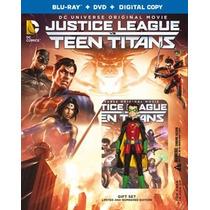 Liga De La Justicia Y Jovenes Titanes Union Accion Bluray D
