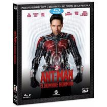 Ant-man El Hombre Hormiga , Pelicula En Blu-ray 3d + Blu-ray
