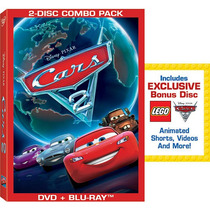 Disney Pixar Cars 2 2-discos Blu-ray Combo Pack Con Exclusiv