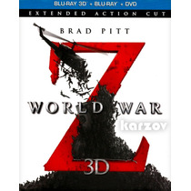 Guerra Mundial Z, World War Z, Blu-ray 3d + Blu-ray + Dvd