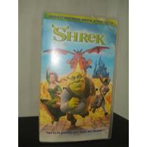 Pelicula Vhs Shrek Dream Works Infantil Caricatura Dibujos