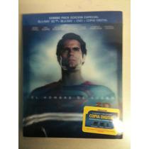 El Hombre De Acero ( Bluray 3d + Bluray + Dvd + Cop Di )