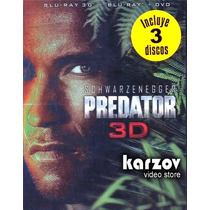 Depredador. La Pelicula Combo: 3d + Blu-ray + Dvd