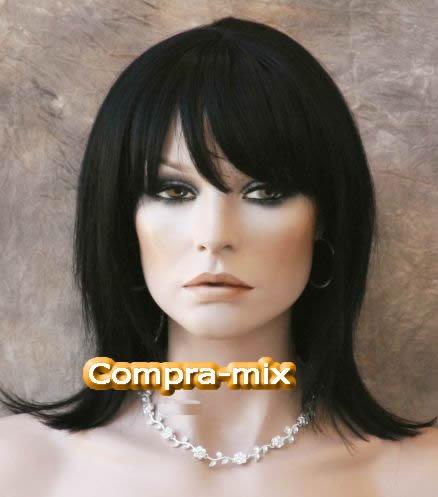Peluca Mediana Cabello Humano 100% Color Negro, Lbf - $ 3,999.00 ...
