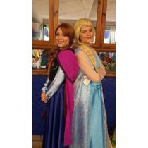 Disfraz Elsa Frozen Adulto Con Peluca, Corona Guantes Evento
