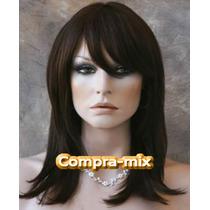 Peluca Cabello Humano 100% Color Castaño Oscuro, Sp0