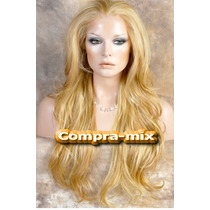 Peluca Super Natural Extra Larga Color Rubia, Lbf