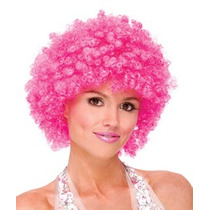 Peluca Disfraz Cosplay Afro Fiucha Rosa Mexicano Sintetica