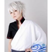 Peluca Blanca Plateada Gintama Zero Dante Anime Cosplay