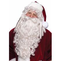 Peluca Barba Y Bigote Santa Claus Santa Clos De Lujo Navidad