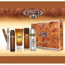 Perfume Cuba Dorado Hombres Gift Set (eau De Toilette Vapor