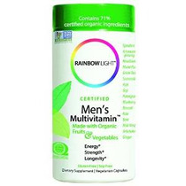 Rainbow Light, Hombres Orgánica De Multivitaminas, 120 Count