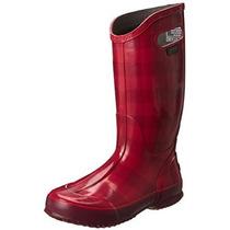 Mujeres Pantanos Buffalo Plaid Rainboot Bota Impermeable