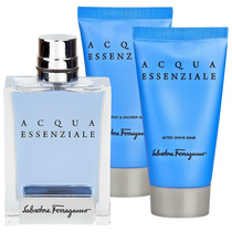 Salvatore Ferregamo Aqua Essenziale + After Shave + Shampoo