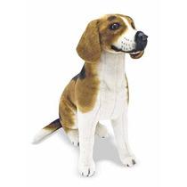 Perro Raza Beagle De Peluche Tamaño Y Consistencia Real