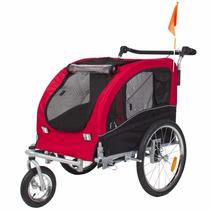 Carrito Paseo Mascota Jaula 2 En 1 Remolque Bicicleta