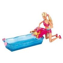 Barbie Swim Y Raza Cachorros Playset