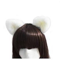 Orejas De Halloween Felpa Gato Blanco / Orejas Fox Cosplay A