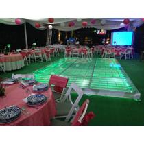 Renta De Pista Iluminada Cristal Luces Dj Karaoke Graduacion