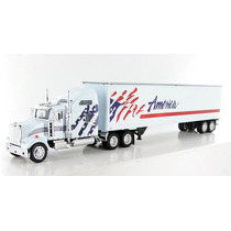 1:53 Camion Trailer Kenworth W900l Caja 48