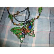 Collar En Cristal Murano, Mariposa