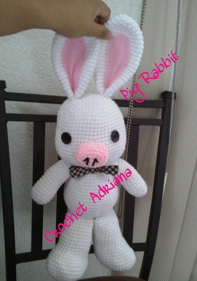 Amigurumi Pig Rabbit : Pig Rabbit O Cerdo Conejo Amigurumi Tejido Crochet - USD 600 ...