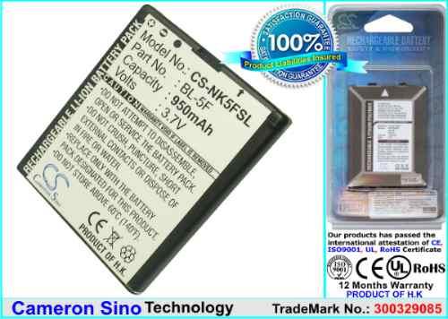 Pila Bateria Nokia N95 N93 N93i E65 N96 6210 Bl5f Rym