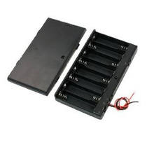 Uxcell Primavera Clip 8 X Case 1.5v Aa Soporte De La Batería