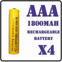 4 Pilas Baterias Recargables A A A 1800mah Ni-mh