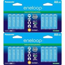Paquete De 32 Baterias Recargables Eneloop Nuevo