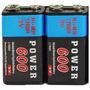 2 Pilas Baterias Recargables 9v 600mah Ni-mh