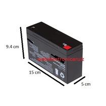Bateria Recargable De 6 Volt 12 Amperes Para Carrito / Moto
