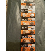 10 Pila Bateria Alcalina Hitachi Maxell Lr43 186 Calculadora