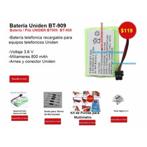 Bateria Telefonica Para Uniden Bt-909 / Pila Bt909 Uniden