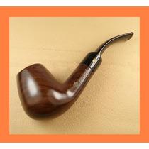 Pipa Madera Fumar Tabaco, Bent Billiard, Ebano