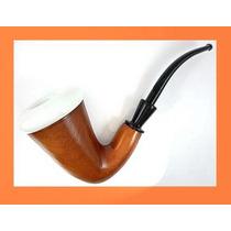 Pipa Madera Fumar Tabaco Big Calabash Porcelana Holanda