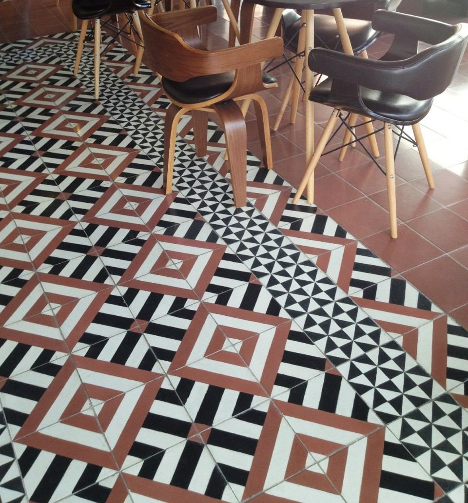 Piso de pasta mosaico terrazo y cantocreto en for Mosaico para piso