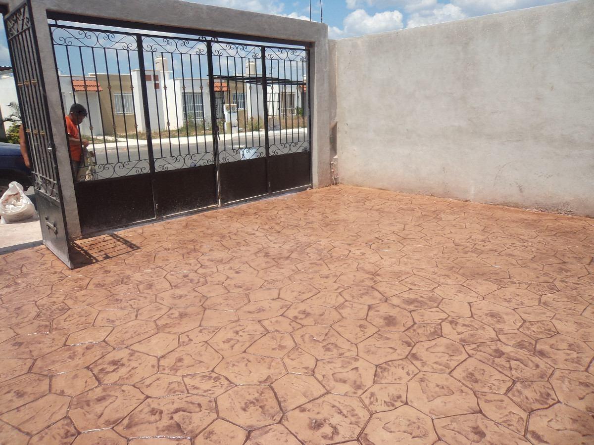 Pisos de concreto estampado en mercadolibre for Cemento estampado precio