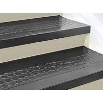 Piso O Paso De Caucho Negro Para Escalera De 121cmx30cm