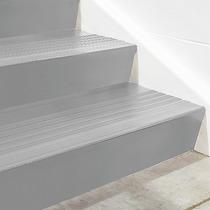 Contrapaso De Vinil Gris Para Escalera De 182cmx17cm