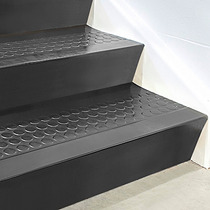 Contrapaso De Caucho Negro Para Escalera De 182cmx17cm