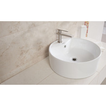 Lavabo Ceramica Blanco Ovalin Sobreponer Tendenzza Maa