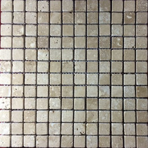 Malla Mosaico Tapete Marmol Travertino Beige 1x1