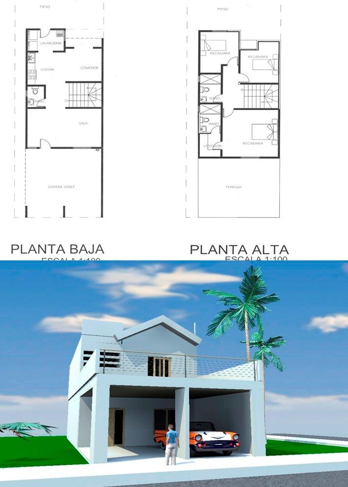 Planos de casas tipo medio listos para construir 2 000 - Planos para hacer casas ...